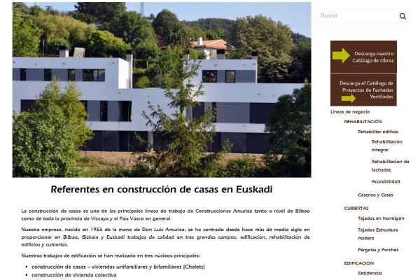 Construcción de casas y posicionamiento web